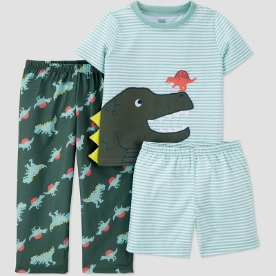 Toddler Boys' 3pc Dino Pajama Set - Just One You® made by carter's Olive