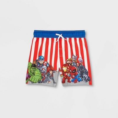 Toddler Boys' Avengers Swim Trunks - Red