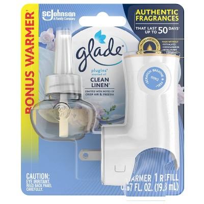 Glade Clean Linen PlugIns Starter + Refill - 1ct