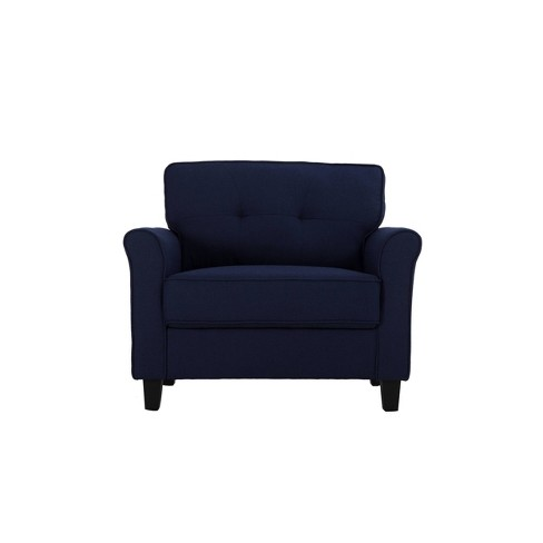 Hayward Microfiber Chair Navy Blue - Lifestyle Solutions - image 1 of 4