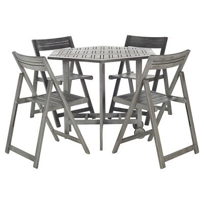 Kerman 5pc Patio Dining Table Set - Gray - Safavieh