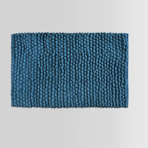 "Penny Textured Bath Rug (20""x34"") Blue - Threshold™ - image 1 of 4"