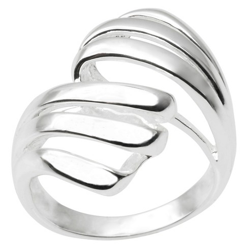 Women's Journee Collection Freeform Ring in Sterling Silver - Silver - image 1 of 3