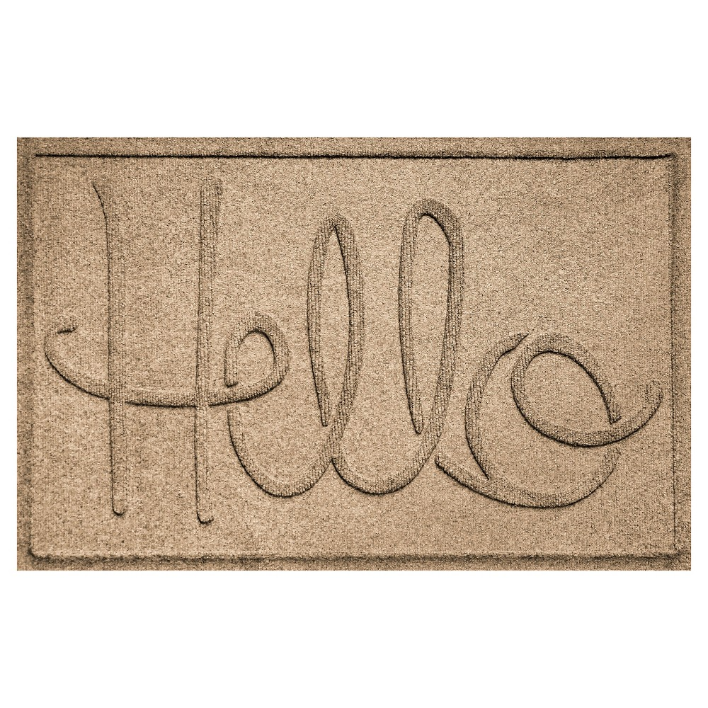 Image of Camel Typography Pressed Doormat - (2'X3') - Bungalow Flooring