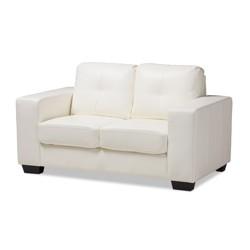 Outstanding Marsala Top Grain Leather Loveseat Brown Abbyson Living Uwap Interior Chair Design Uwaporg