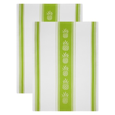 Jacquard Cotton Towel Set of 2- Pineapple - Mu Kitchen