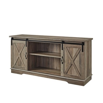 "Modern Farmhouse Wood TV Stand for TVs up to 65"" - Saracina Home"