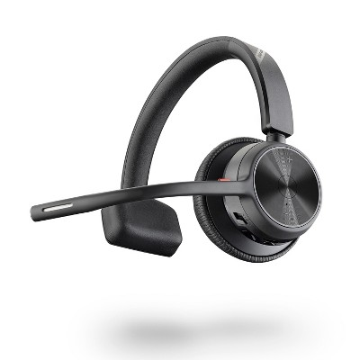 Poly Voyager 4310 UC Wireless Headset (Plantronics) - Single-Ear Headset with Boom Mic - Connect to PC / Mac via USB-A Bluetooth Adapter, Cell Phone via Bluetooth - Works with Teams, Zoom & More