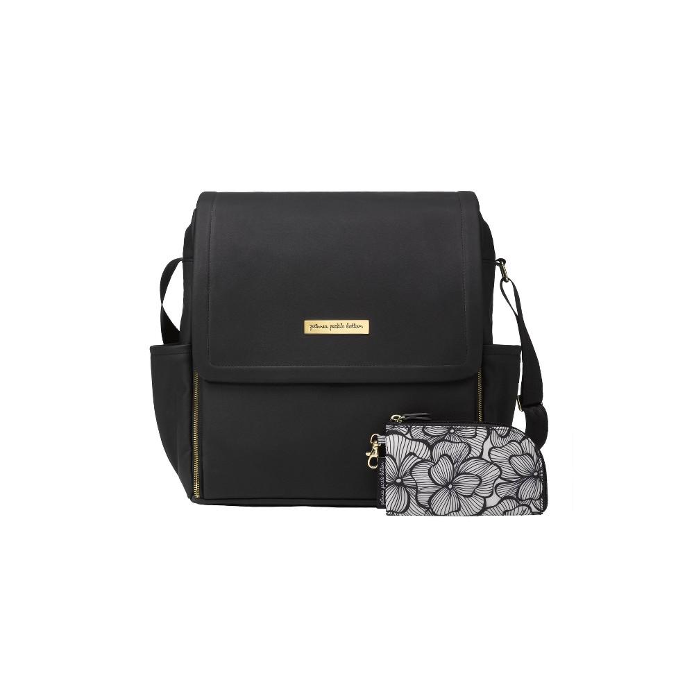 Image of Petunia Pickle Bottom Boxy Diaper Bag - Black Matte Leatherette