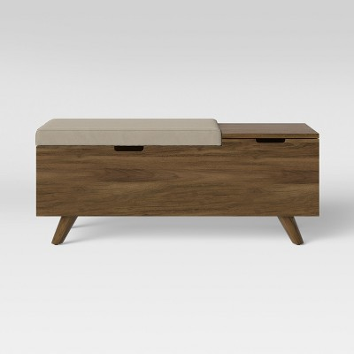 Meller Wood and Upholstered Bench Beige - Project 62™