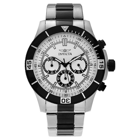 Men's Invicta Specialty 12843 Two-tone Stainless Steel Chronograph Link Watch - Black - image 1 of 3