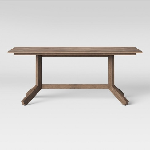 """72"""" Newfield Rectangle Farmhouse Dining Table Gray Wash - Threshold™ - image 1 of 4"""