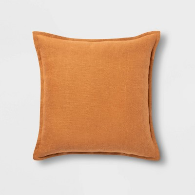 Square Linen Pillow Ginger - Threshold™