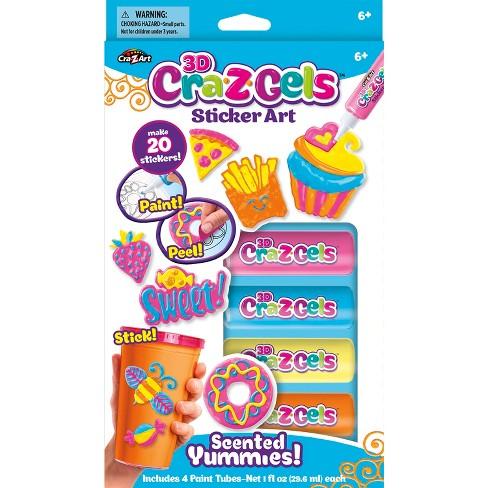 CraZArt 3D Cra-Z-Gels Sticker Art 16pc Scented Yummies - image 1 of 1
