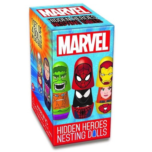 Promotional Partners Worldwide, LLC Marvel Blind Boxed Hidden Heroes Nesting Dolls, 1 Set of 4 Dolls - image 1 of 2