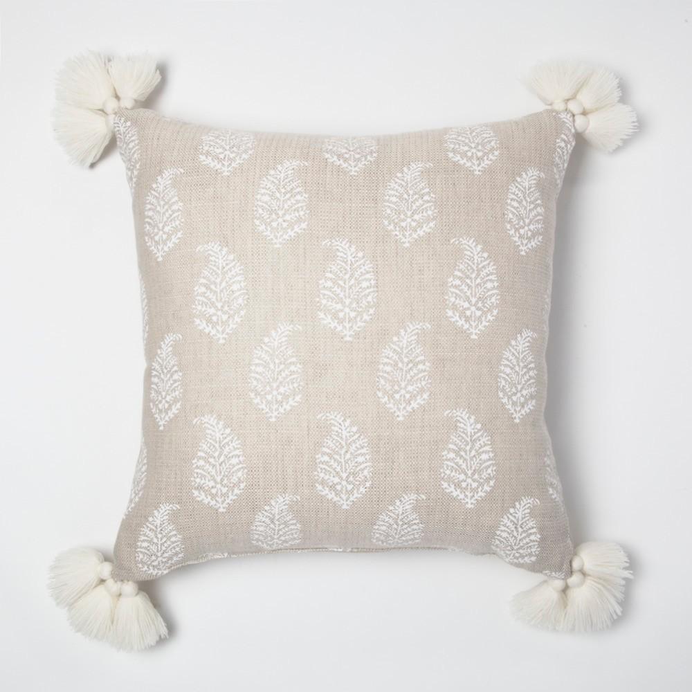 Cream Paisley Throw Pillow - Threshold