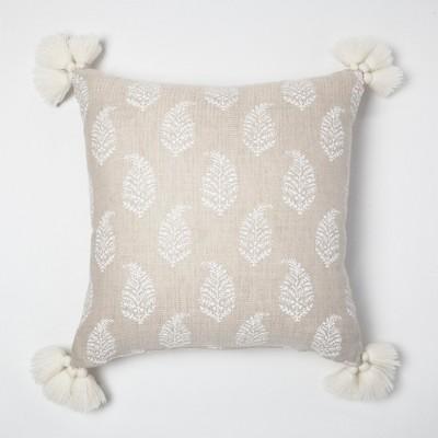 Cream Paisley Throw Pillow   Threshold™