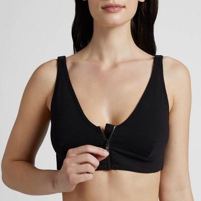 Slick Chicks Women's Wireless Zip-Front Adaptive Bra