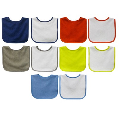 Neat Solutions 10pk Water Resistant Baby Bib Set - Assorted Bright Blues