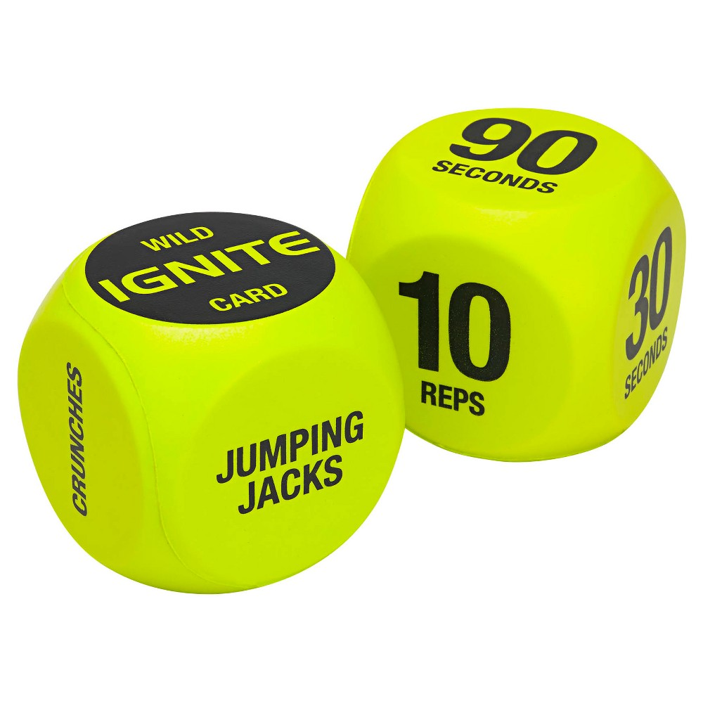 Ignite by Spri Exercise Dice, Lime Green