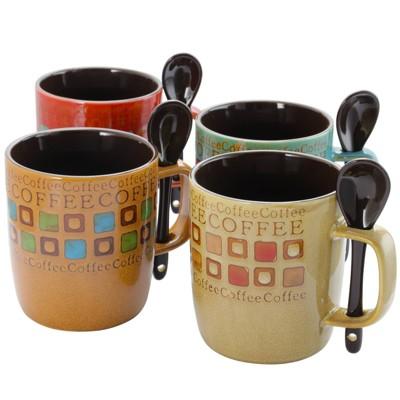 Gibson Home 13oz 8pk Stoneware Mr. Coffee Cafe Americano Mug Set