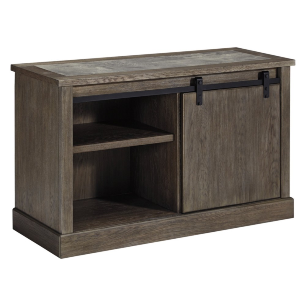 Image of Luxenford Large Credenza Taupe - Signature Design by Ashley, Gray