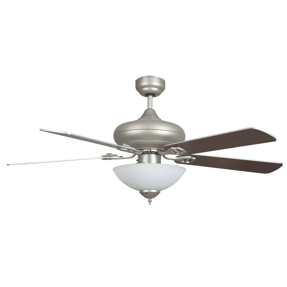 "Image of ""52"""" Valore Quick Connect Ceiling Fan Brushed Nickel - Concord Fans"""