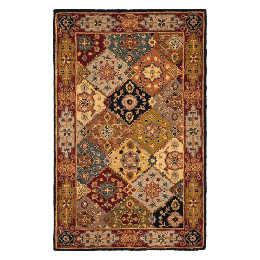 Floral Tufted Area Rug 4'X6' - Safavieh, Multi-Colored/Red