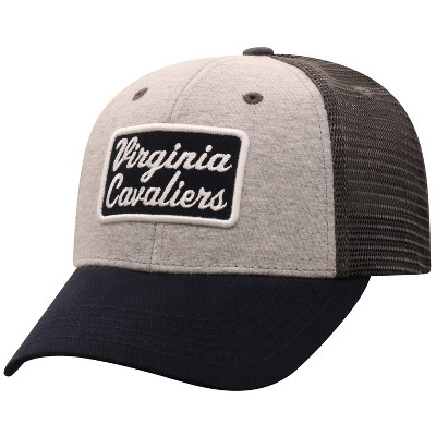 NCAA Virginia Cavaliers Men's Gray Cotton with Mesh Snapback Hat