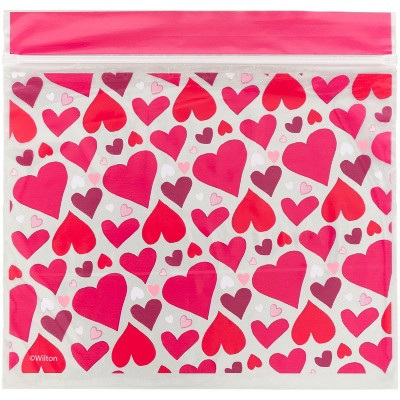 Wilton 20ct Resealable Hearts Abound Valentine's Day Treat Bags