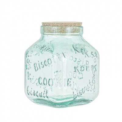 Amici Home Italian Recycled Green Biscotto Glass Cookie Jar, 105oz