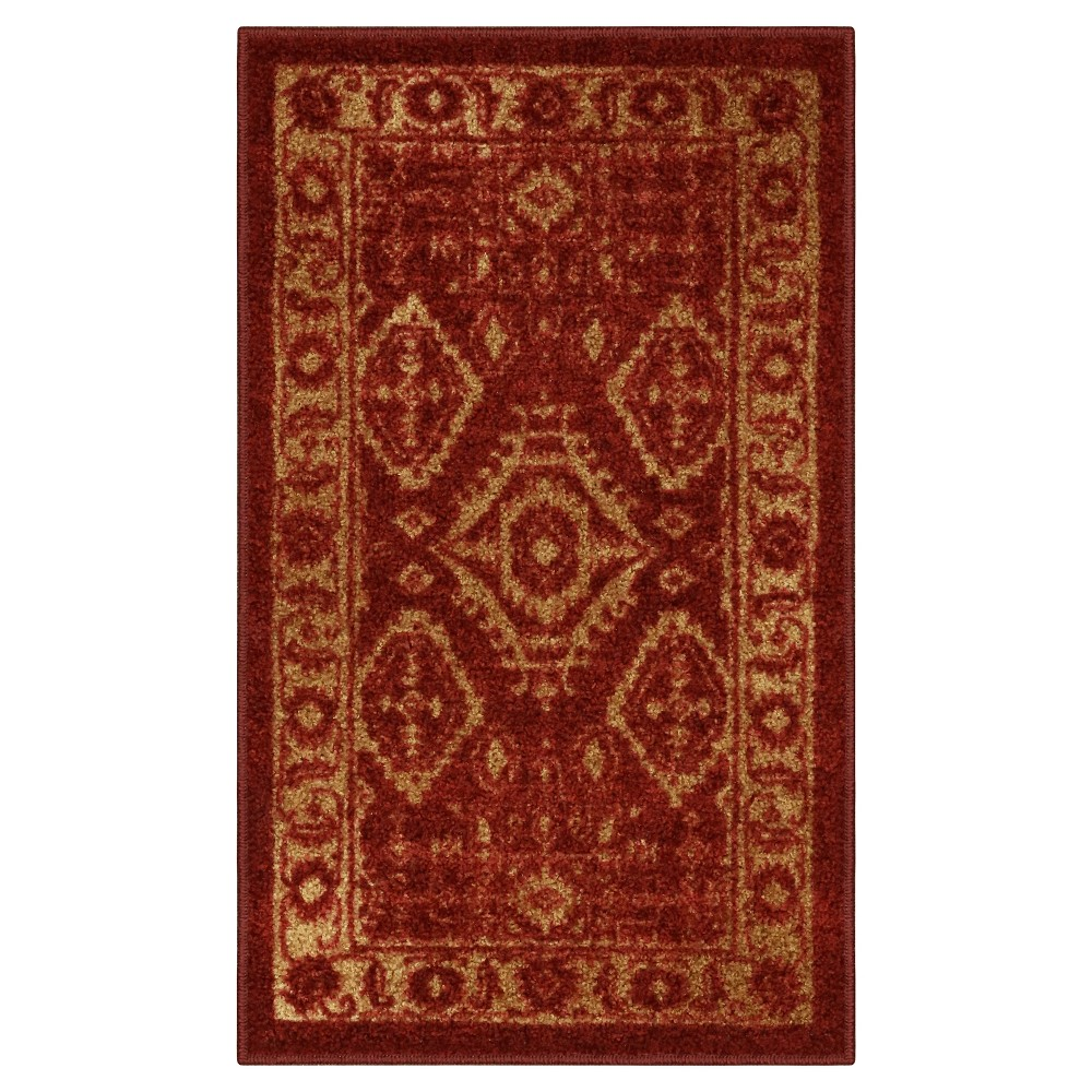 "Image of ""1'8""""X2'10"""" Tribal Design Tufted Accent Rug Red - Maples"""