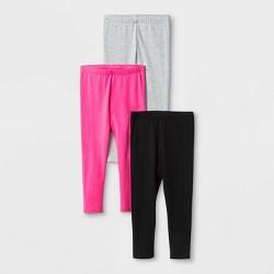 03e1a0fa2890a Toddler Girls' Solid 3pk Leggings - Cat & Jack™ Pink/Gray/Black