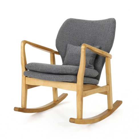 Benny Mid Century Modern Fabric Rocking Chair Christopher Knight Home Target