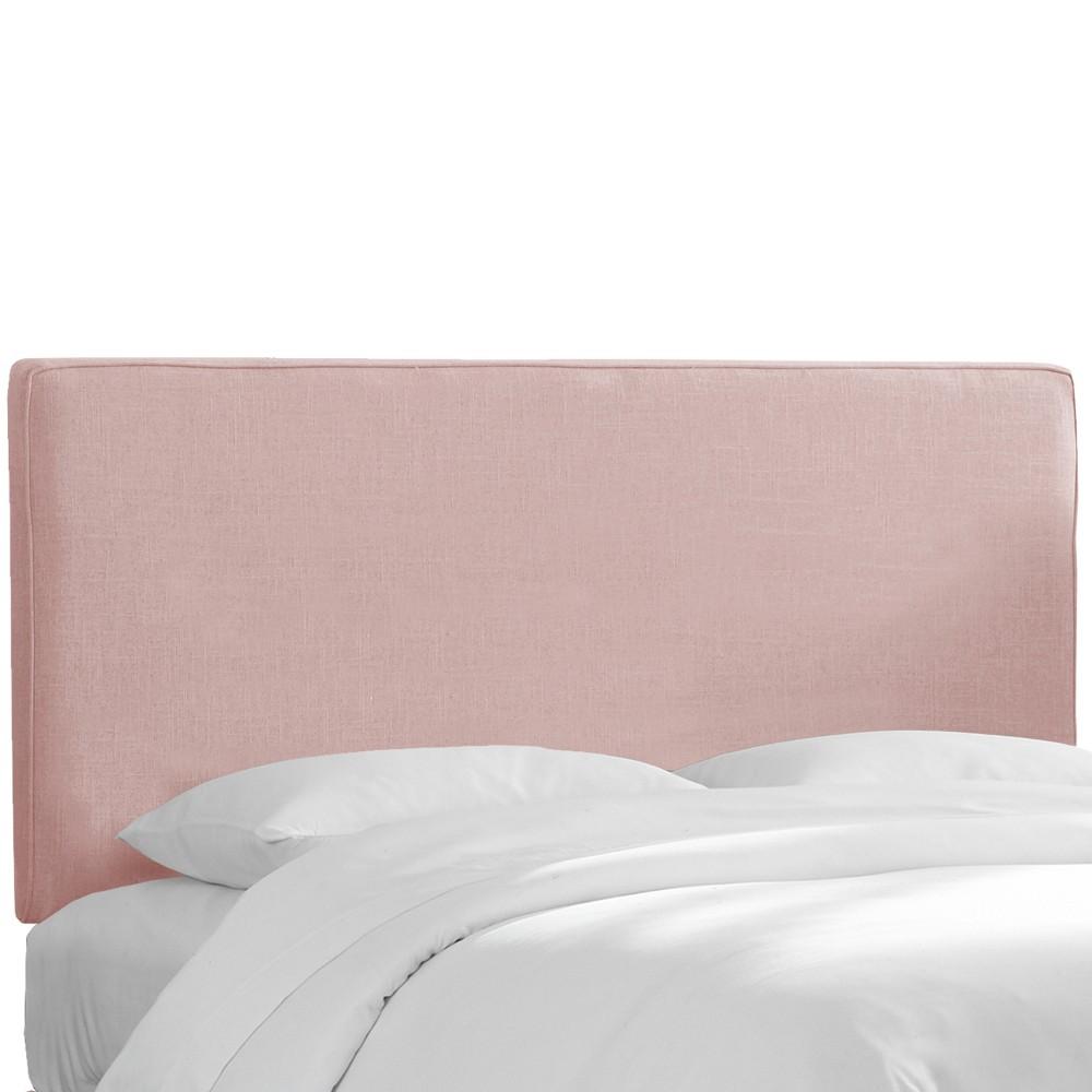 Twin Harper Box Seam Headboard Blush Linen - Cloth & Co.