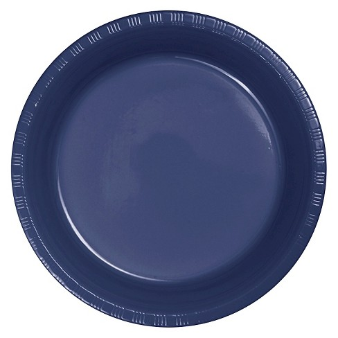 "Navy Blue 9"" Plastic Plates - 20ct - image 1 of 2"
