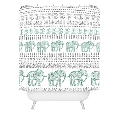 Dash and Ash Delight Way Shower Curtain Green - Deny Designs