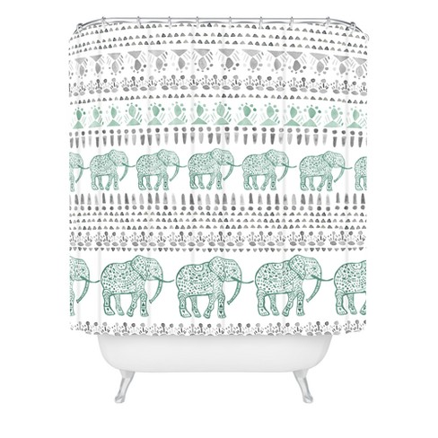 Dash And Ash Delight Way Shower Curtain Green