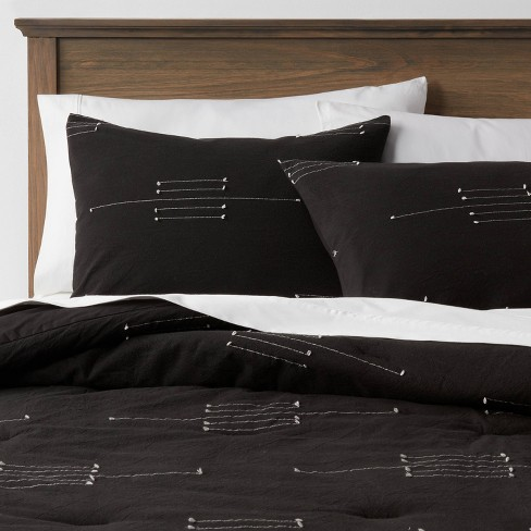 Clipped Linework Comforter & Sham Set - Threshold™ - image 1 of 4