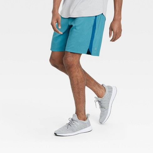"""Men's 9"""" Lined Run Shorts - All in Motion™ Teal - image 1 of 4"""