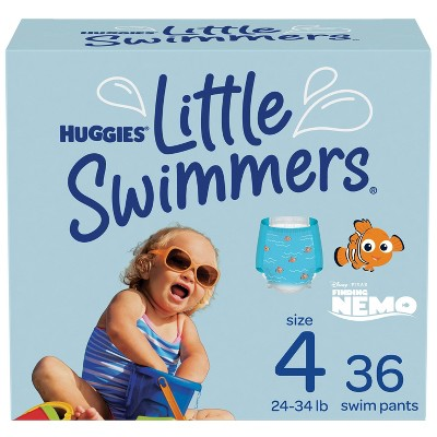 Huggies Little Swimmers Baby Swim Disposable Diapers - Size 4 - 36ct