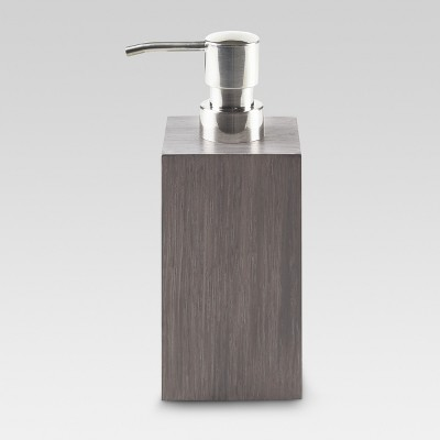 Wood Soap/Lotion Dispenser Gray - Project 62™