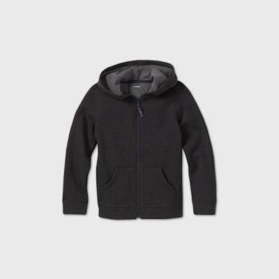 Girls' Adaptive Abdominal Access Fleece Zip-Up Sweatshirt - Cat & Jack™ Black