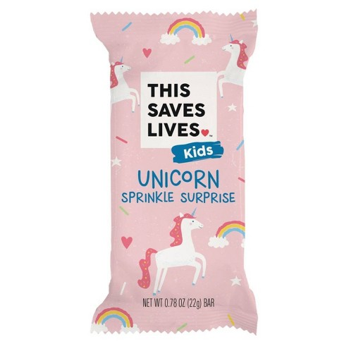 This Saves Lives Unicorn Sprinkle Surpise Krispy Treat Bar - 22g - image 1 of 4