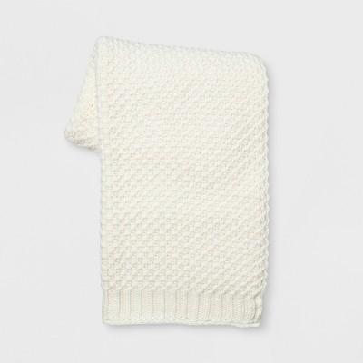 Knit Throw Blanket White - Threshold™