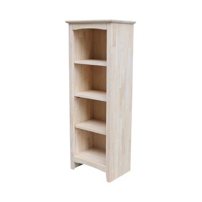 Shaker Bookcase Unfinished Brown - International Concepts