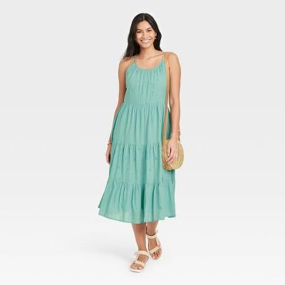 Women's Sleeveless Tiered Dress - Universal Thread™