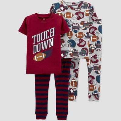 Toddler Boys' 4pc Sports Pajama Set - Just One You® made by carter's Maroon 4T