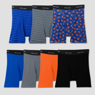Fruit of the Loom Boys' 7pk Long Leg Boxer Briefs - Colors Vary XL