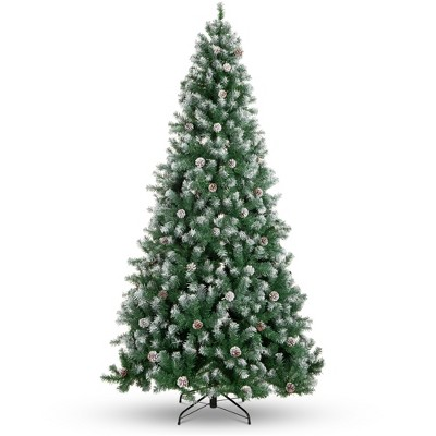 Best Choice Products Pre-Decorated Holiday Christmas Pine Tree w/ Metal Base